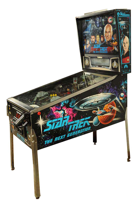 Williams 'Star Trek: The Next Generation' solid-state machine, 1993, est. $2,500-$3,500. Morphy Auctions image.