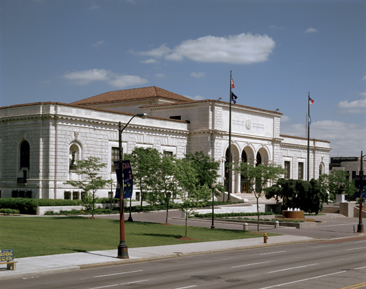The main building of the Detroit Institute of Arts, designed by French-American architect and industrial designer Paul Philipe Cret. Detroit Institute of Arts image.