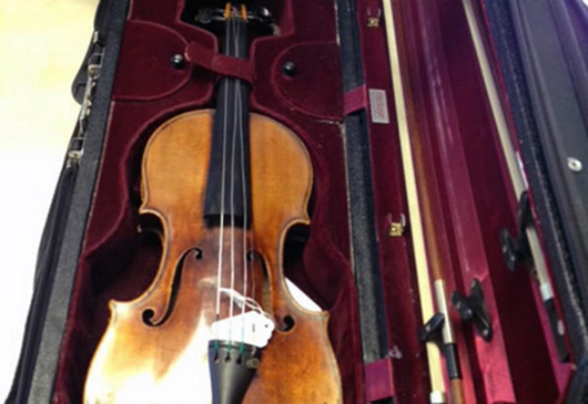 This Stradivarius violin, recovered more than two years after it was stolen in London, sold recently at auction for $2.3 million. Image courtesy of Tarisio auction house.