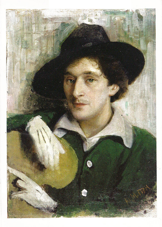 An authentic portrait of Chagall by Yehuda 'Yuri' Pen, his first art teacher in Vitebsk, Belarus. Image courtesy of Wikimedia Commons.