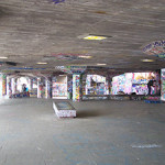The undercroft skate park below the Queen Elizabeth Hall, which forms part of Southbank Centre arts complex. Image by T.frewin.This file is licensed under the Creative Commons Attribution-Share Alike 3.0 Unported license.