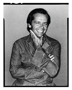 Jack Nicholson by David Bailey, 1978 copyright David Bailey. From the exhibition Bailey's Stardust, sponsored by HUGO BOSS, National Portrait Gallery, London, 6 Feb. - 1 June, 2014), www.npg.org.uk.