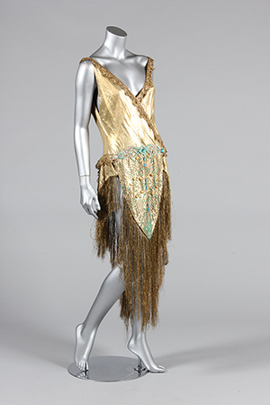 Beaded cloth of gold dance/cabaret outfit, 1920s. Estimate: £300-£500. Kerry Taylor Auctions image.
