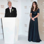 HRH The Duchess of Cambridge and National Portrait Gallery Director Sandy Nairne at a gala in February. Image copyright Jorge Herrera.