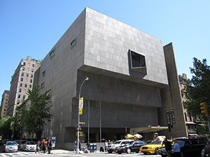 Curatorships made possible by a gift from Daniel and Estrellita B. Brodsky will allow for expansion of curatorial staff both at the Met's main building and the Marcel Breuer-designed building (shown here) on Madison Avenue. This building will be vacated by the Whitney Museum in 2015 and subsequently occupied by the Met. Photo by Gryffindor, licensed under the Creative Commons Attribution-Share Alike 3.0 Unported license.