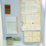 Rare 1862 baseball tickets and scorecard. Saco River Auction Co. image.