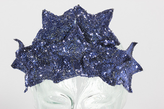 Rare Chanel sequined head-dress, circa 1937. Sold for £2800 at Kerry Taylor Auctions, London, December 3, 2013. Kerry Taylor Auctions image.