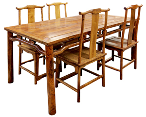 This table and four chairs sold for $179,000 and was one of the 14 lots offered in this collection that realized over $1.1 million. Clars Auction Gallery image.
