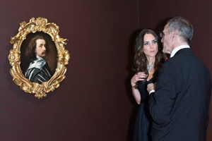 HRH The Duchess of Cambridge with National Portrait Gallery Director Sandy Nairne beside the self-portrait of Sir Anthony Van Dyck, 1640-1. © Photograph: Jorge Herrera.