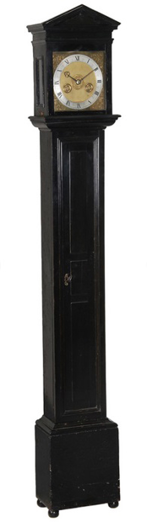Dreweatts & Bloomsbury Auctions sold this rare architectural eight-day longcase clock by Joseph Knibb for £542,000 ($899,341). Dreweatts & Bloomsbury image.