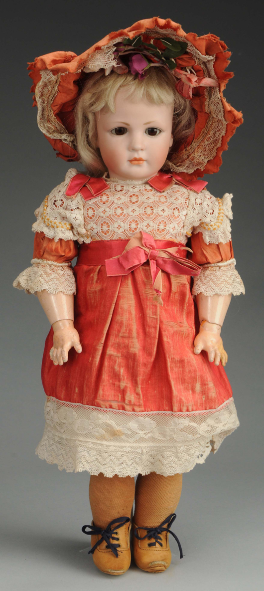 17in Simon & Halbig IV doll, 17in. Est. $7,000-$10,000. Morphy Auctions image.