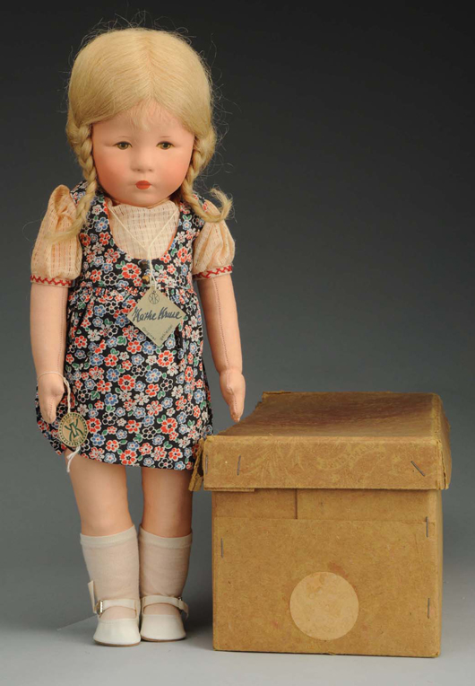 Kathe Kruse 'Hampelchen' XIIH doll, est. $2,500-$3,500. Morphy Auctions image.
