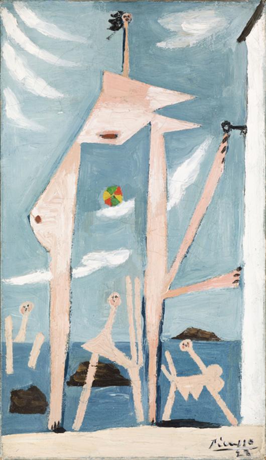 Pablo Picasso, 'Baigneuses au ballon,' 1928. Image courtesy of Moderna Musee.