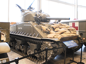 A Sherman tank at the National World War II Museum. Image by Nolabob. This file is licensed under the Creative Commons Attribution-Share Alike 3.0 Unported license.