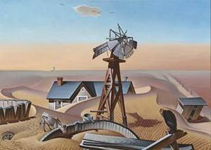 Alexandre Hogue, 'Drouth Stricken Area,' 1934, oil on canvas, Dallas Museum of Art, Dallas Art Association Purchase, © Olivia Hogue Mariño & Amalia Mariño.