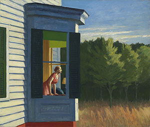 'Cape Cod Morning,' 1950, Edward Hopper, oil on canvas 34 1/8 x 40 1/4 in. (86.7 x 102.3 cm.) Smithsonian American Art Museum Gift of the Sara Roby Foundation 1986.6.92 Smithsonian American Art Museum.