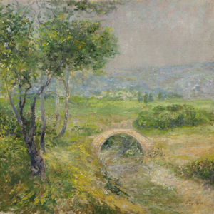 This signed oil-on-linen painted by Guy Rose during his years in France is offered at John Moran Auctioneers' March 25 auction with an estimate of $30,000-$40,000. John Moran Auctioneers image.