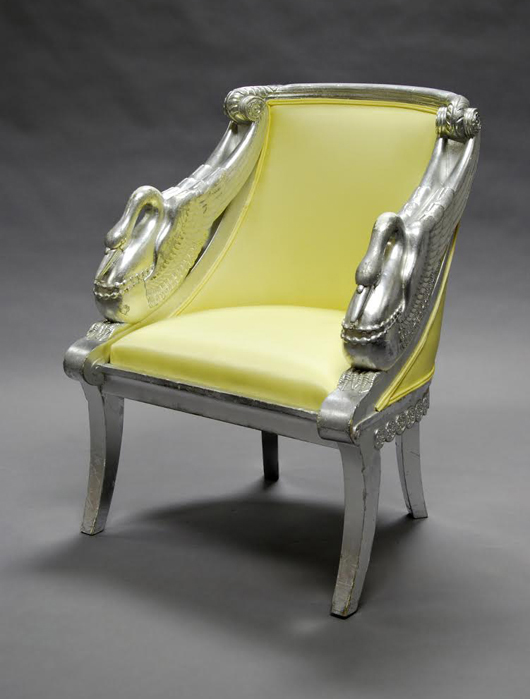 There Will Be Three Pairs And Four Single Philippe Starck Empire Chairs  With Silvered Swan Arms