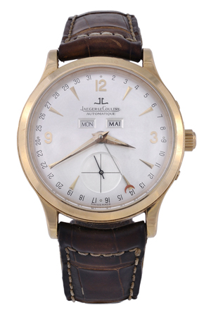 Lot 27 – Jaeger-LeCoultre, Master Control 1000 Hours, 18K gold wristwatch, circa 2000, no. 0940. Estimate: £4,000-$6,000. Dreweatts & Bloomsbury image.