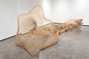 Sopheap Pich, 'Morning Glory,' 2011, rattan, bamboo, wire, plywood, and steel, 17 feet 6 inches × 103 inches × 74 inches (533.4 × 261.6 × 188 cm). Solomon R. Guggenheim Museum, New York, Guggenheim UBS MAP Purchase Fund 2013.3 © Sopheap Pich. Installation view: Morning Glory, Tyler Rollins Fine Art, New York, Nov. 3–Dec. 23, 2011.