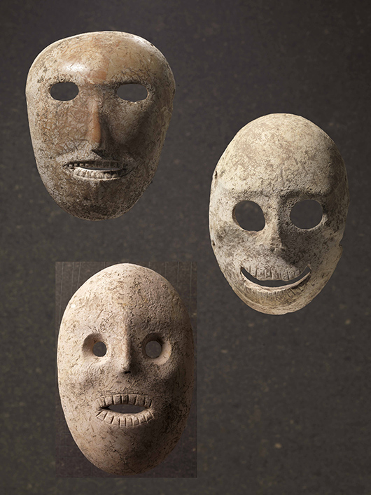 Ancient Stone Masks Go On Display At Israel Museum