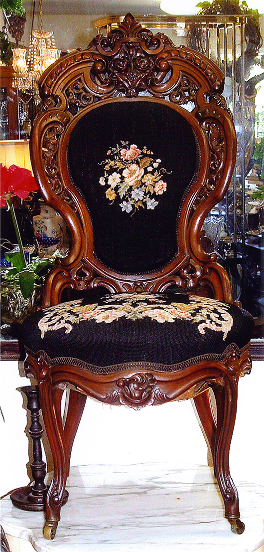 This Attractive Chair By J. U0026 J.W. Meeks, Circa 1850, Would Be Pleasure