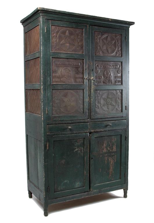 Rockbridge County, Va., punched-tin-paneled closet safe. Jeffrey S. Evans & Associates image.