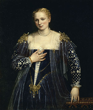 Paolo Veronese (1528-1588), Portrait of a Lady, known as the 'Bella Nani', about 1560-5, oil on canvas, 119 x 103 cm, Musée du Louvre, Paris (R.F. 2111), © RMN (Musée du Louvre)/All rights reserved.