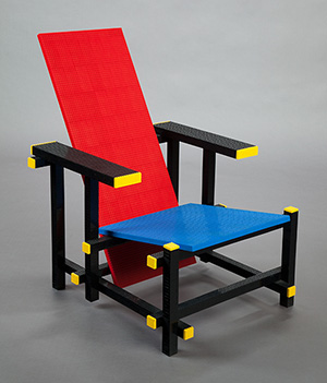 The LEGO® Chair from the collection of The Cosmopolitan of Las Vegas, one of only eight such pieces in the world. Heritage Auctions image.