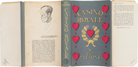 Ian Fleming's 'Casino Royale,' London: Jonathan Cape, [1953]. First edition of the first James Bond novel, in first issue dust jacket. Estimate: $20,000-plus. Heritage Auctions image.