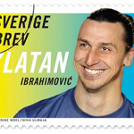 One of the stamps in a new series issued by Sweden's postal service honoring Paris Saint-Germain striker Zlatan Ibrahiovic. Photo: Posten.