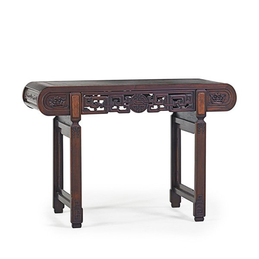 Chinese altar table. Price realized: $20,000. Rago Arts and Auction Center image.