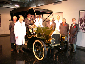 The 'Pit Crew' is a group of volunteers who work every Monday conserving the Auburn Cord Duesenberg Automobile Museum's world renowned collection. There is also a group of volunteers that now work Thursday evenings. Photo Credit: Auburn Cord Duesenberg Automobile Museum.