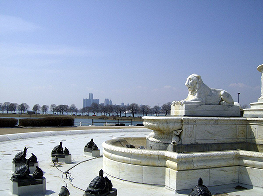 A view of Detroit from Belle Isle Park. Image by Mike Russell. This file is licensed under the Creative Commons Attribution-Share Alike 3.0 Unported license.