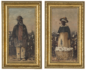 Sharecropper portraits by William Aiken Walker. Estimate: $10,000-$15,000. Cowan's Auctions Inc.