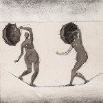 Watercolor and charcoal design that was the basis Henry Moore's 'Highwire Walkers.' Price realized: £14,880 ($24,671). Dreweatts & Bloomsbury Auctions image.