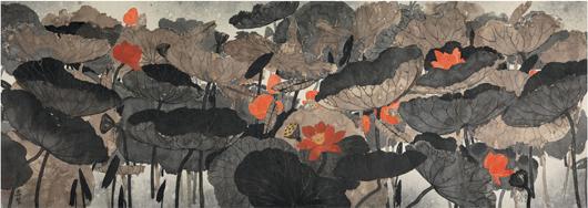 From Kaikodo: Mansheng Wang, 'Lotus Pond in Summer,' 2010. Asia Week New York image.