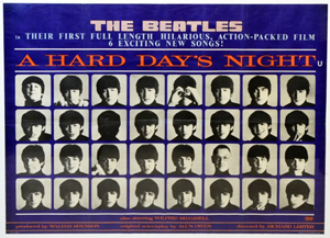 'Hard Day's Night' poster. Ewbank's image.