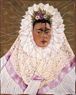 Frida Kahlo, 'Autoritratto come Tehuana, (o Diego nei miei pensieri),' 1943, olio su tela, cm 76 x 61. The Jacques and Natasha Gelman Collection of 20th Century Mexican Art and The Vergel Foundation, Cuernavaca. © Banco de México Diego Rivera & Frida Kahlo Museums Trust, México D.F. by SIAE 2014.