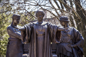 'Alma Mater' was created by Lorado Zadoc Taft (April 29, 1860 – Oct. 30, 1936), an American sculptor, writer and educator, born in Elmwood, Ill. Image courtesy of University of Illinois.