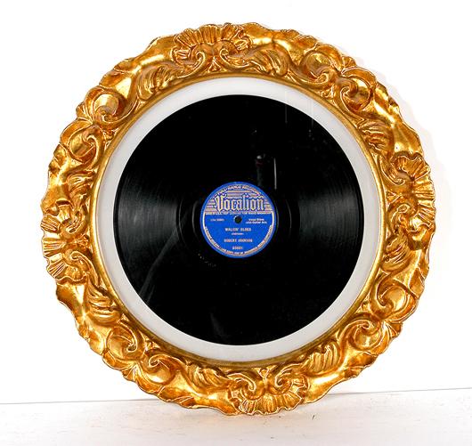 Lot 766 – Robert Johnson, 'Walkin' Blues' and 'Sweet Home Chicago,' full-range recording, Vocalion #03601, dated, 1937. Est. $4,000-$6,000. Slotin Folk Art image.
