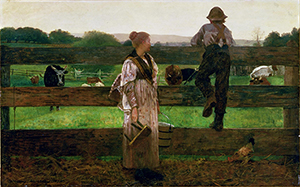 Winslow Homer's 'Milking Time,' oil on canvas, 1875. Image courtesy of Wikimedia Commons.