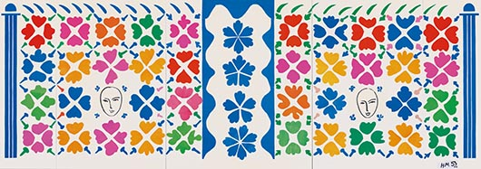 Henri Matisse (1869 -1964) 'Large Composition with Masks' 1953, National Gallery of Art, Washington. Ailsa Mellon Bruce Fund 1973.17.1 Digital Image: © National Gallery of Art, Washington. Artwork: © Succession Henri Matisse/DACS 2014.