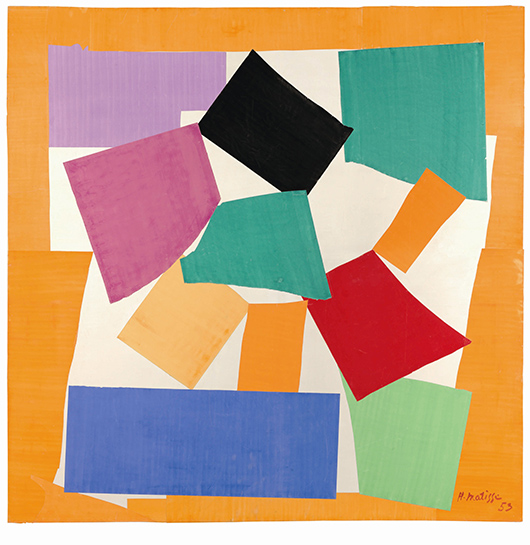 Henri Matisse (1869 -1964) 'The Snail' 1953, gouache on paper, cut and pasted on paper mounted to canvas. Tate Digital image: © Tate Photography. Artwork: © Succession Henri Matisse/DACS 2014.