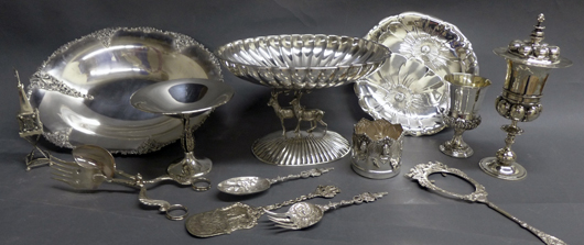 Pieces from the large selection of sterling silver to be auctioned. Sterling Auctions image