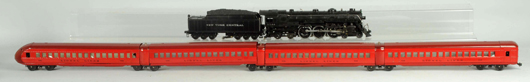 Lionel No. 709W Rail Chief passenger train set, pre-WWII, near mint, pictured in 1937 Lionel catalog with a cost of almost $100. Estimate $12,000-$18,000. Morphy Auctions image