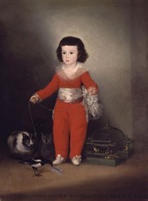 Goya (Francisco de Goya y Lucientes) (Spanish, Fuendetodos 1746–1828 Bordeaux), 'Manuel Osorio Manrique de Zuñiga (1784–1792),' 1787–88. Oil on canvas, 50 x 40 in. (127 x 101.6 cm). The Metropolitan Museum of Art The Jules Bache Collection, 1949, 49.7.41. Image courtes of The Metropolitan Museum of Art