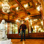 Stuart Grannen in a paneled room moved from a 1913 jewelry store in Nashville, Tenn. Architectural Artifacts Inc. image.