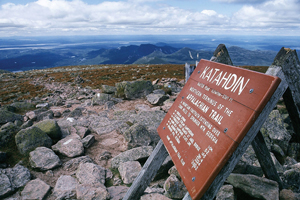 Northern terminus of the Appalachian Trail atop Mount Katahdin in Maine. Image3 by kworth30. This file is licensed under the Creative Commons Attribution 2.0 Generic license.