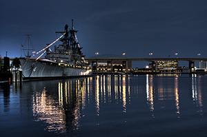 The USS Little Rock moored in Buffalo, N.Y. The 610-foot-long cruiser was commissioned in June 1945. Image by Tim Gerland. This file is licensed under the Creative Commons Attribution 2.0 Generic license.